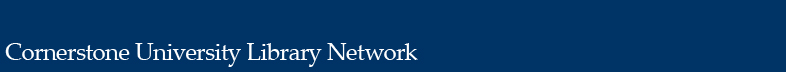 Cornerstone University Library Network